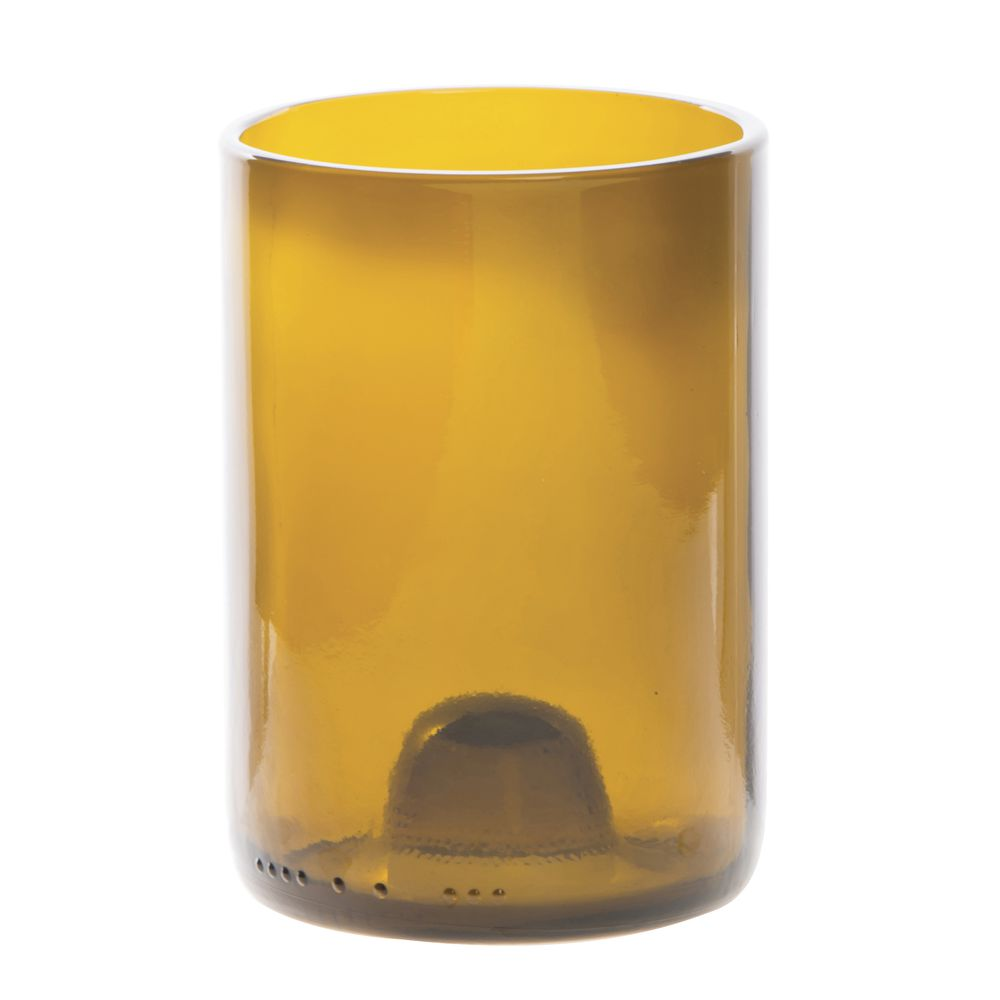 Cardinal Wine Bottle Glass Tumblers 12 Oz Amber 12/Cs