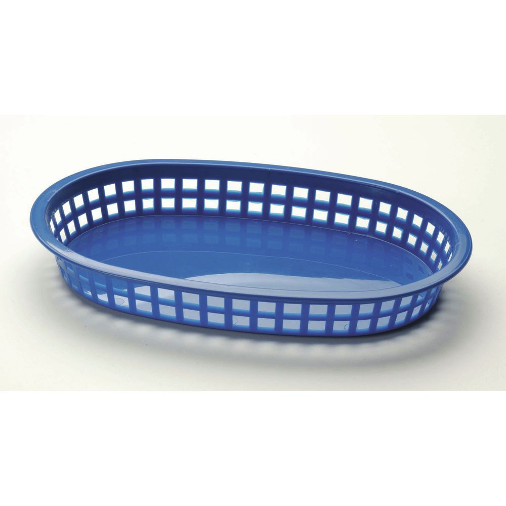 BASKET, ROYAL BLUE PLASTIC 10-1/2X7X1-1/2