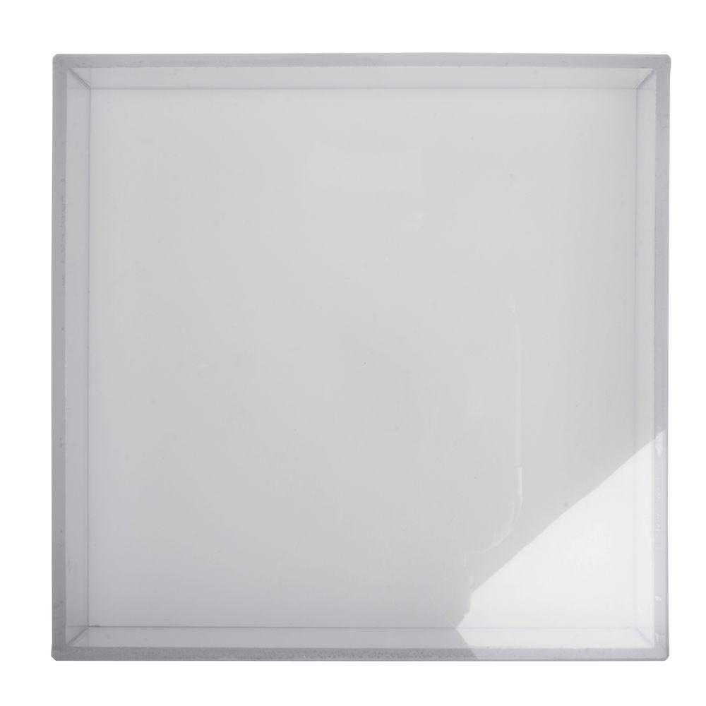 Expressly hubert clear plastic square vase lid 5l x 5w x 14h reviewsmspy