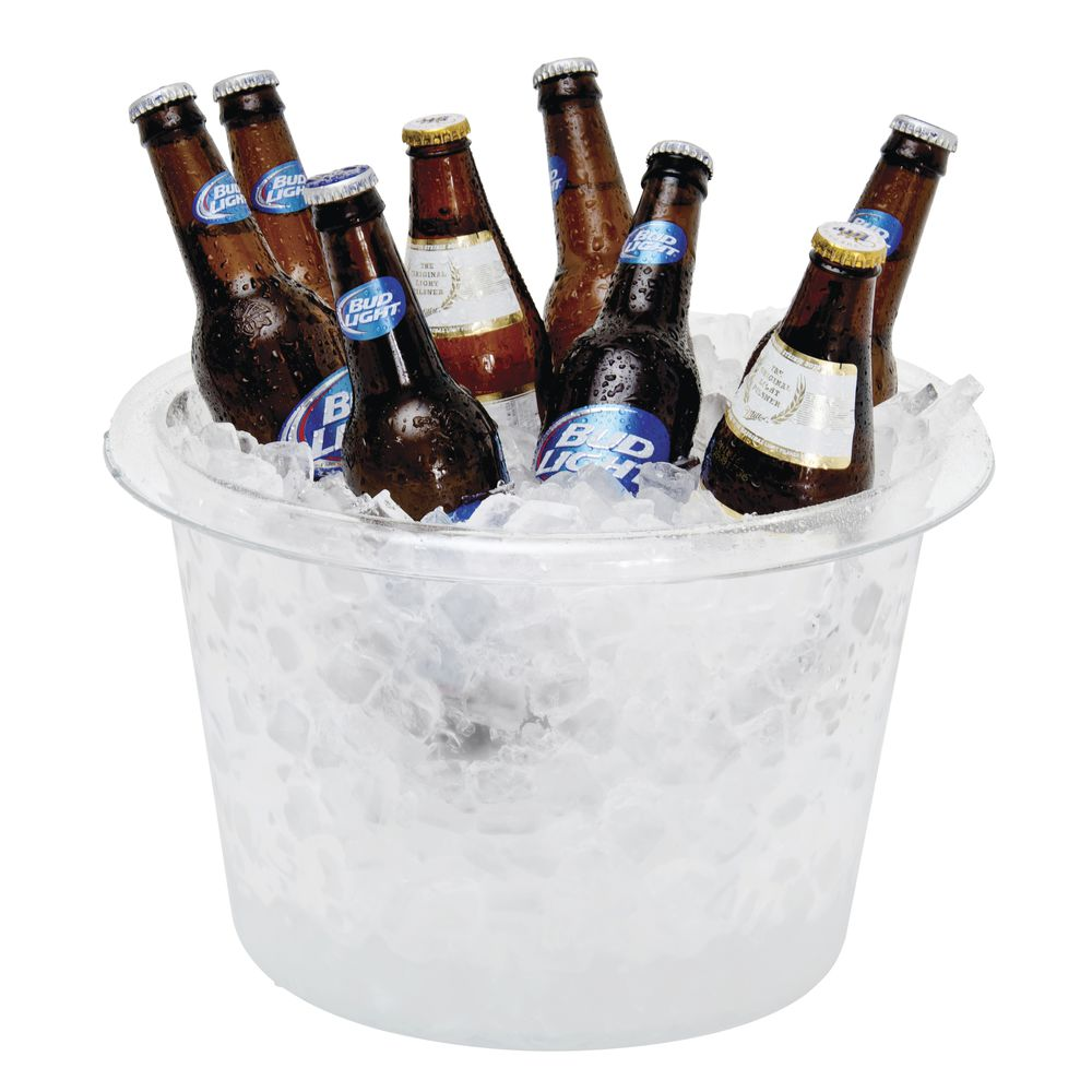 "Large Clear Acrylic Ice Bucket 9 1/4""H"