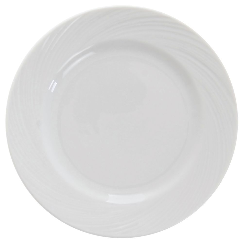 PLATE, BREAD + BUTTER, ORBIS BRT WHITE