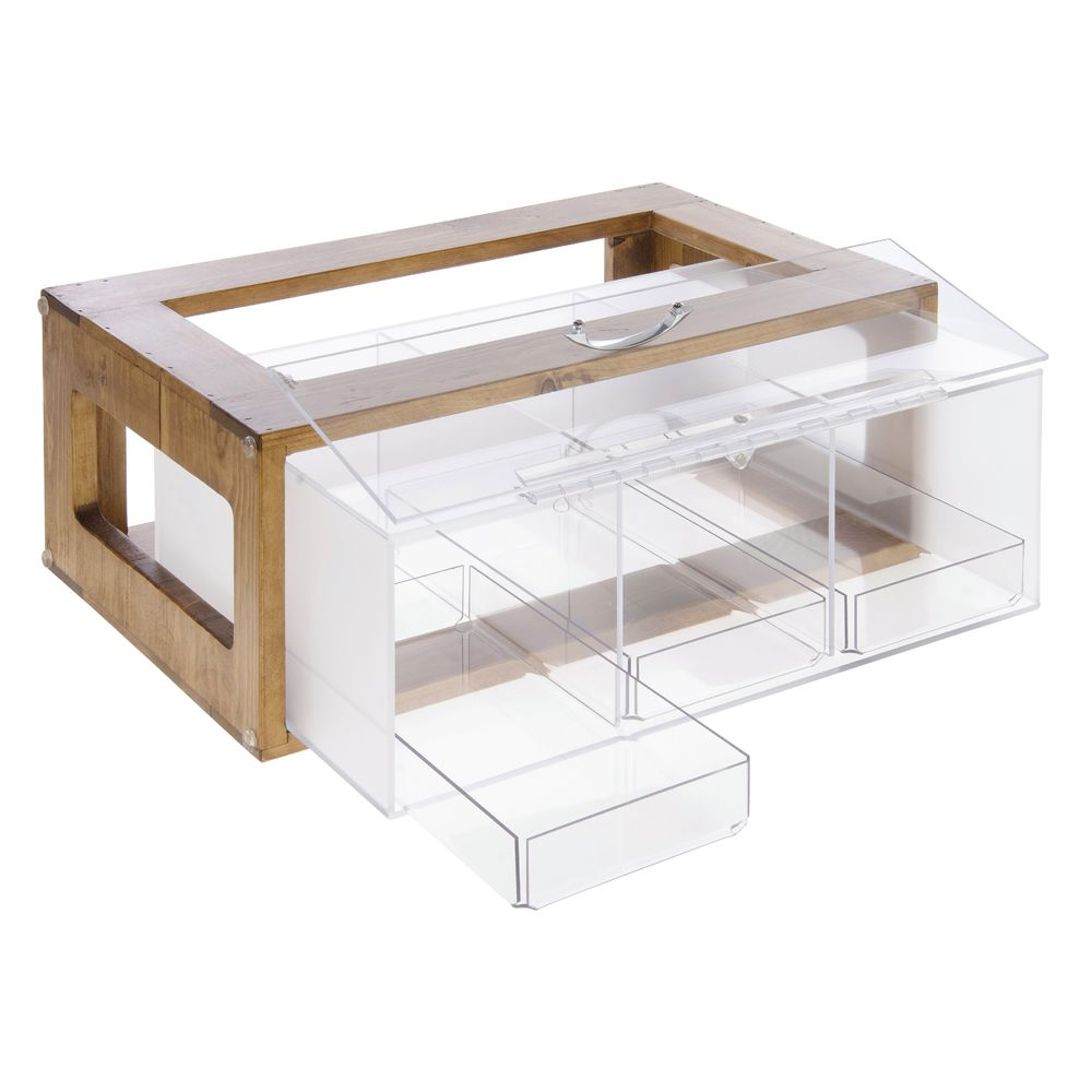 "Cal Mil Bread Display Case Madera Collection 8'L x 13""W x 20 1/2""H Wood/Acrylic"