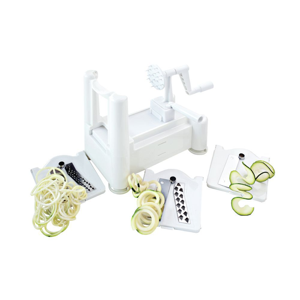 Six Blade Vegetable Slicer Spiralizer Counter Mounted Fit Stainless Steel Unique