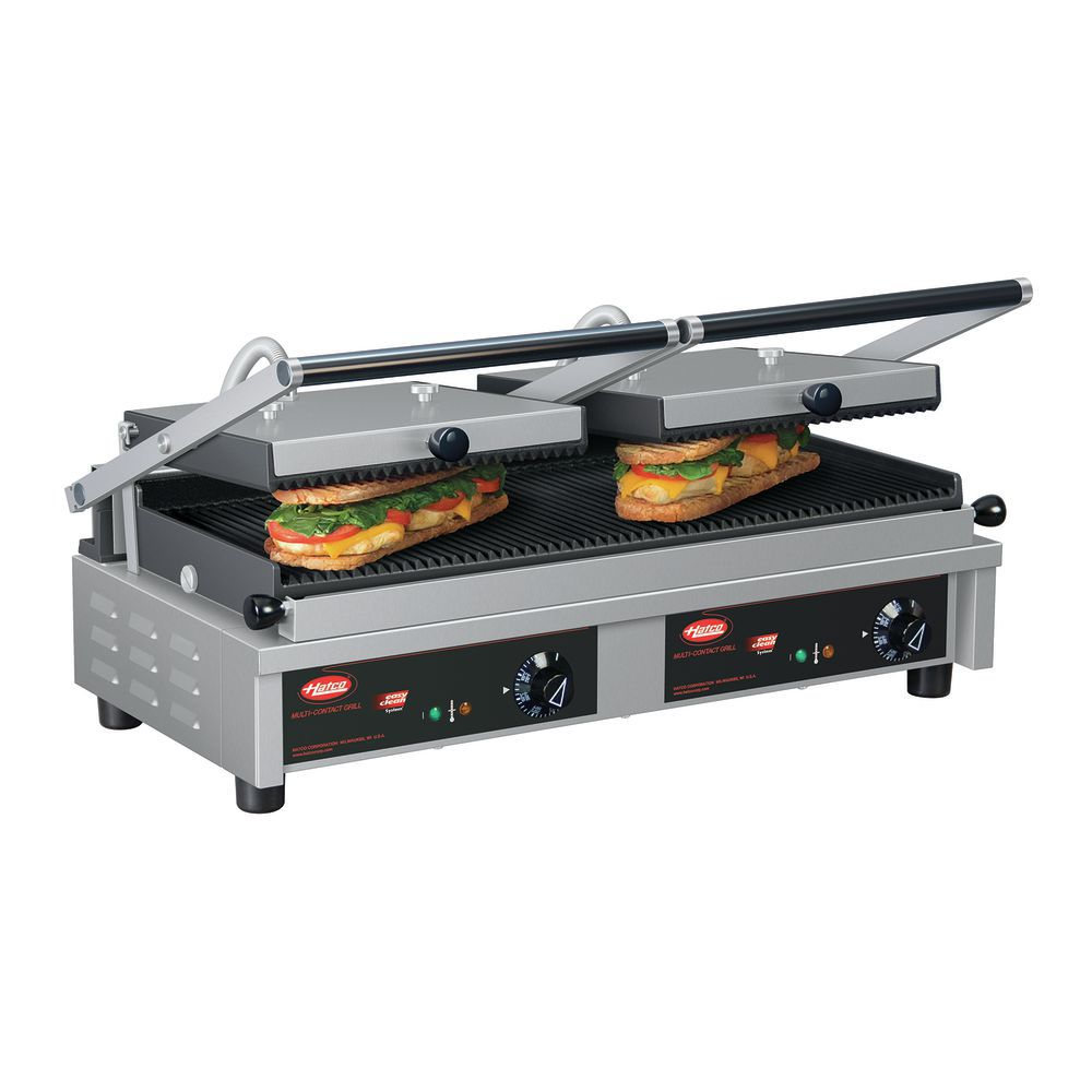 GRILL, PANANI, MULTI CONTACT, DOUBLE, 240V