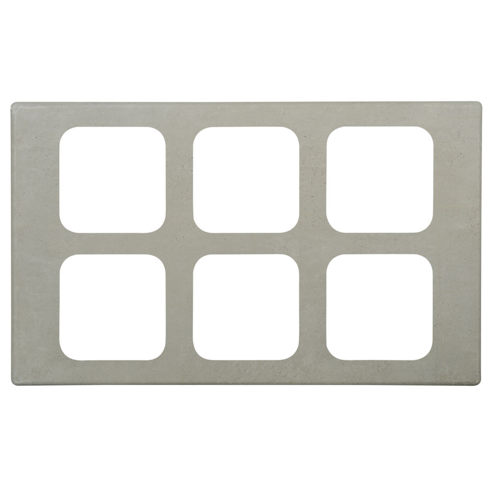 TILE, MELAMINE, FOR 6 SXTH SZ PANS, CONCRET