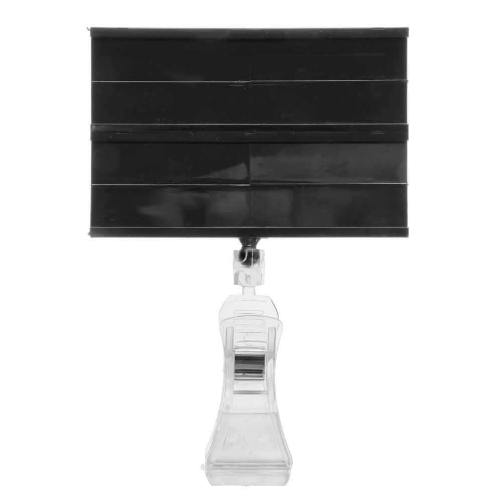 Hubert® 2-Channel Produce Track Sign with Clear Clip