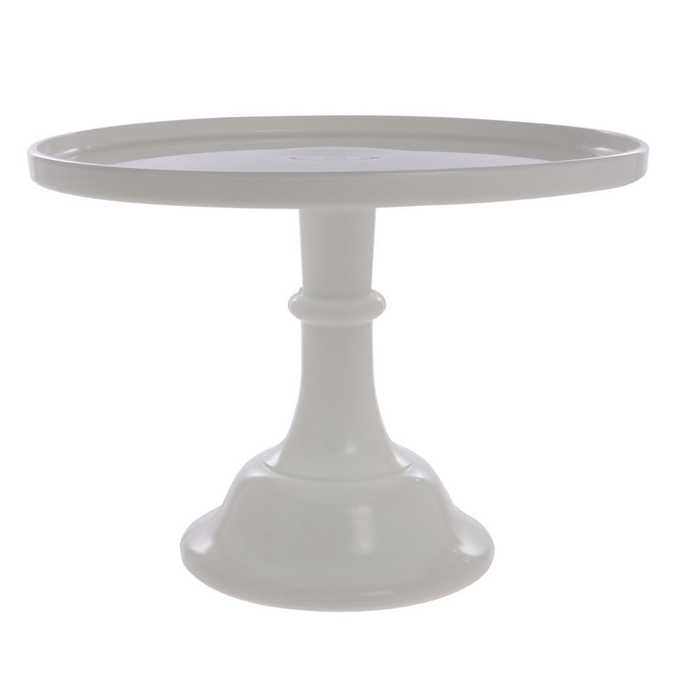 CAKE STAND, GLASS, 12DIAX9H, MILK