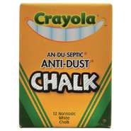 CHALK, DUSTLESS, WHITE, 12PC/BOX