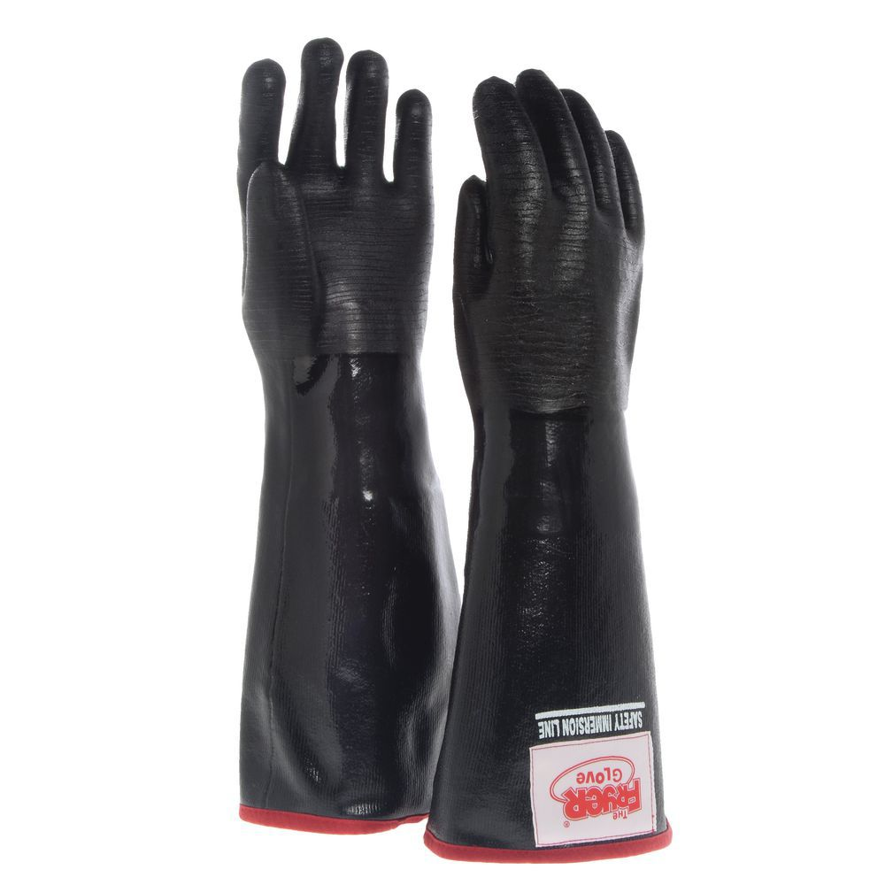 """The Fryer Glove® Heat Resistant Glove Removable Liner 18""""L Size Large Heavyweight Neoprene"""