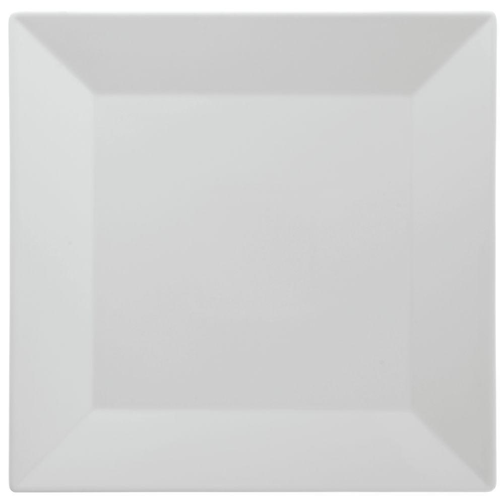 PLATE, SQUARE, 12.75X12.75, WHT, KYOTO