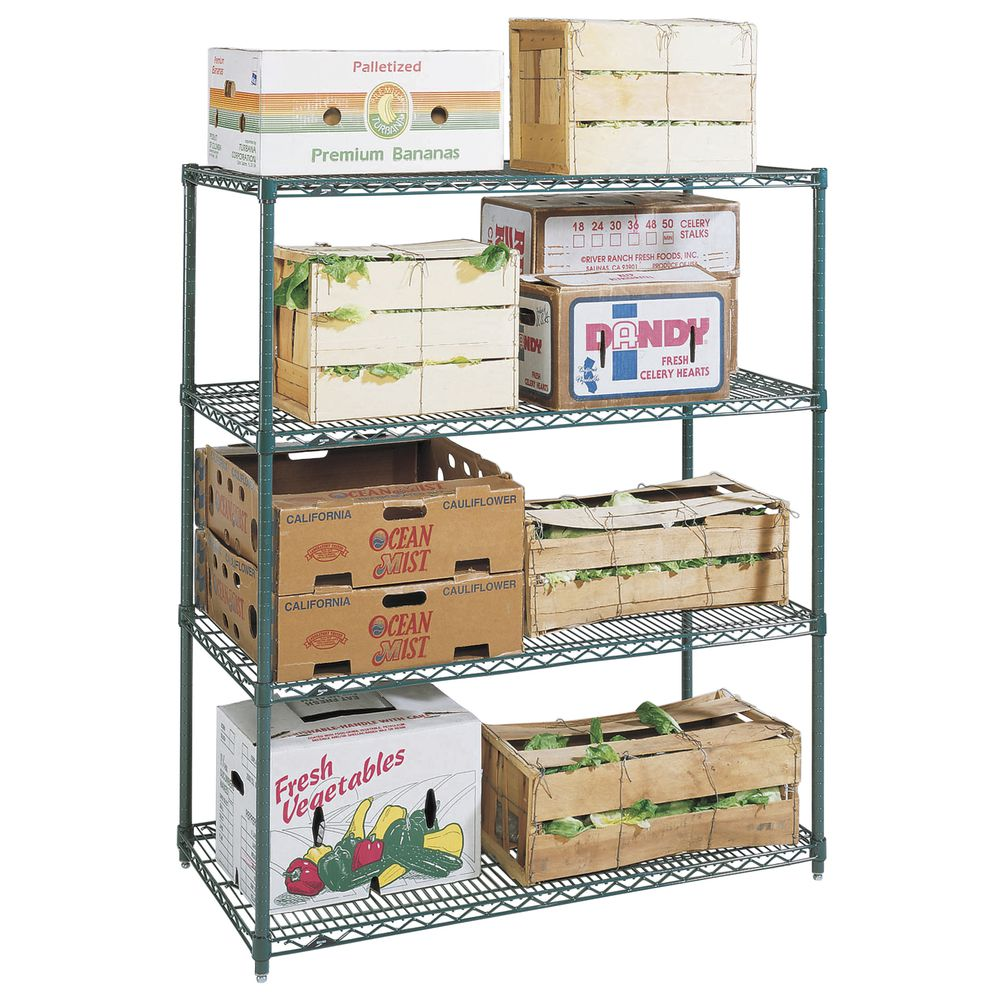 "Metro Super Erecta Metroseal 4 Shelf Metal Shelving Unit 36""L x 18""W x 63""H"