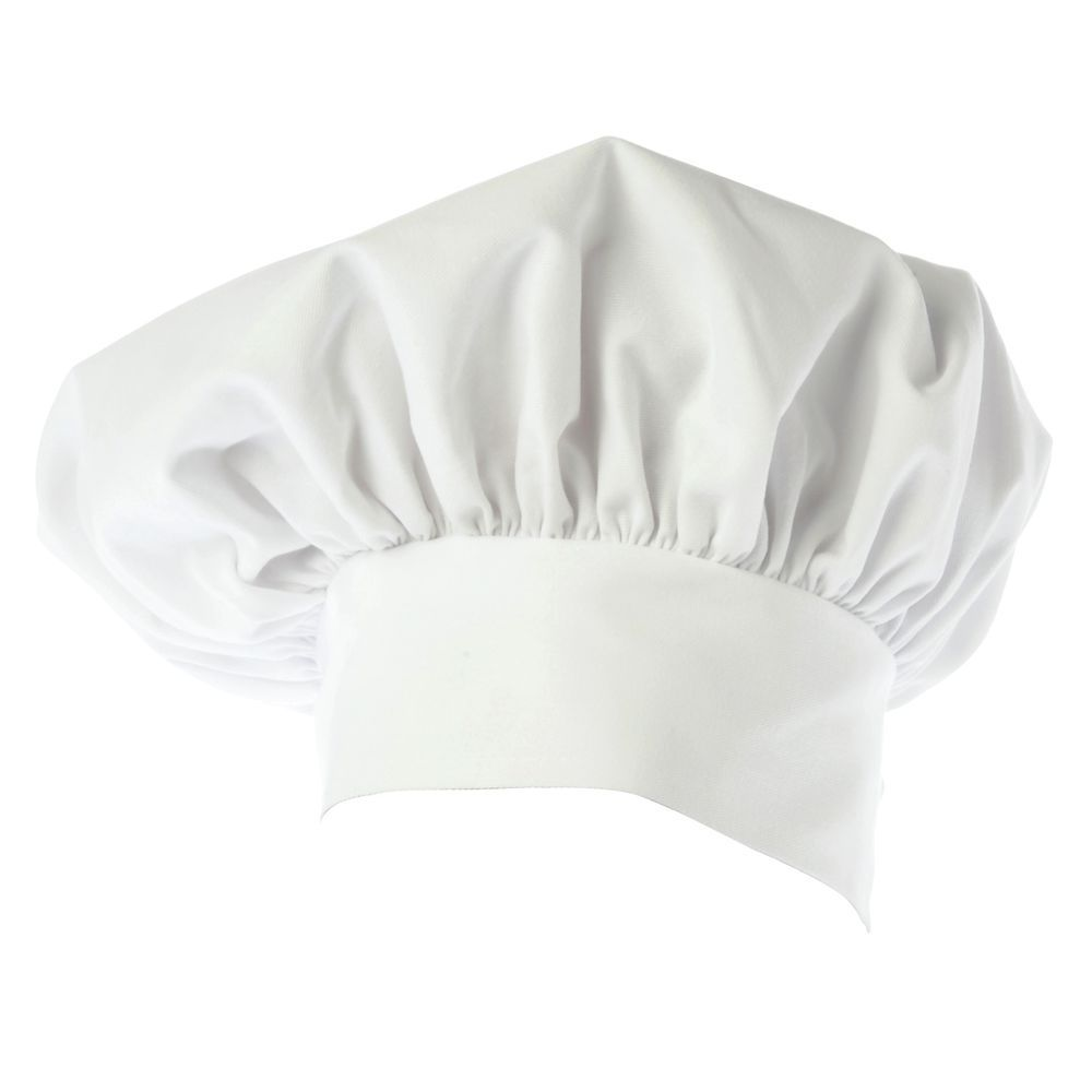 HAT, CHEF, TOQUE, TWILL, WHITE