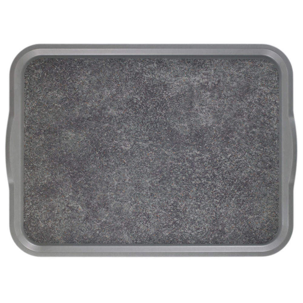"Cambro Non-Skid Versa Camtray Tray with Handles in Pearl Gray Fiberglass  20""L x 15""W"