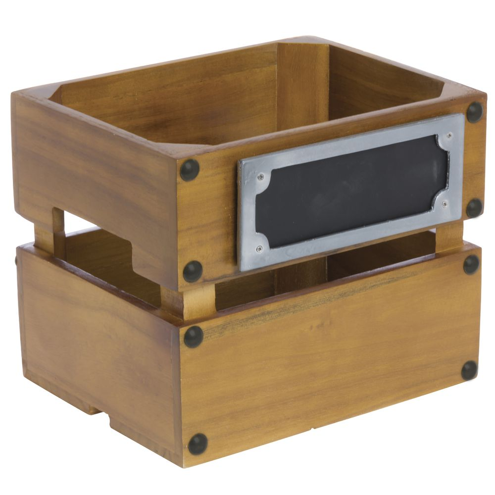 CRATE, PALLET-STYLE, SMALL W/CHALKBOARD
