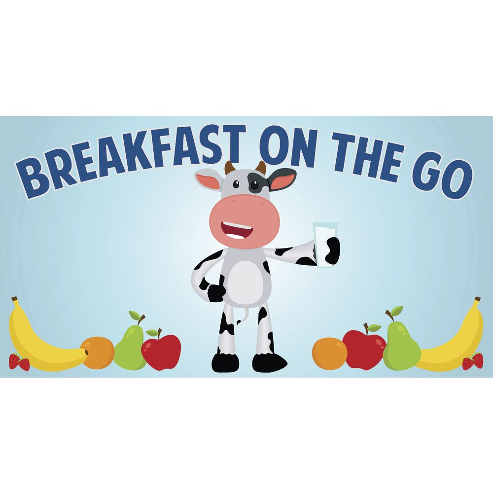 """SIGN, MAGNETIC, BREAKFAST COW, 49X26"""""""