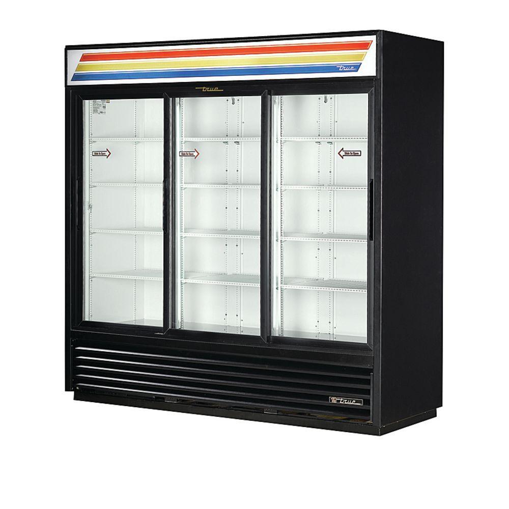 True 69 Cu Ft 3 Sliding Door Merchandiser Refrigerator 78 18l X