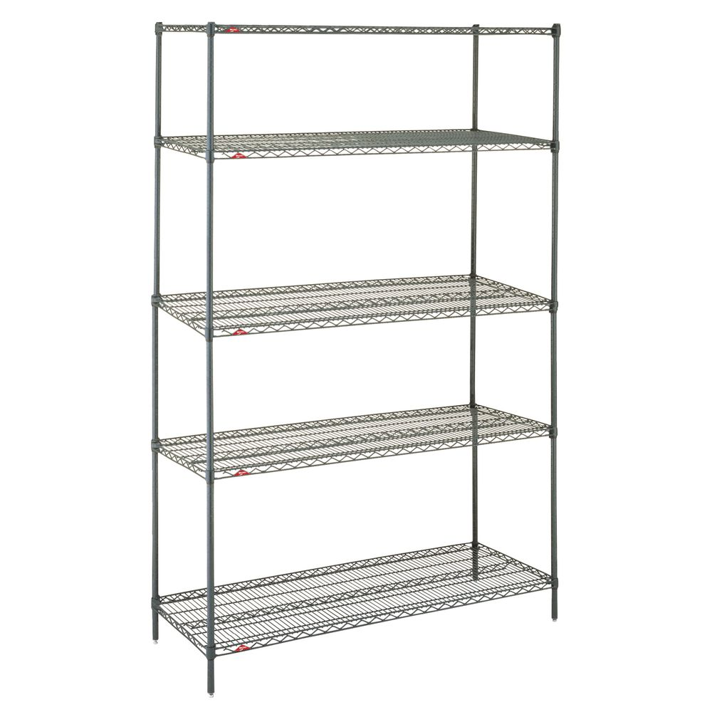 "Metro Super Erecta Metroseal 5 Shelf Metal Shelving Unit 36""L x 24""W x 74""H"