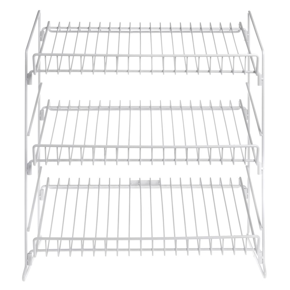 White Wire 3 Tier Snack Display - 19 1/2L x 12D x 23H