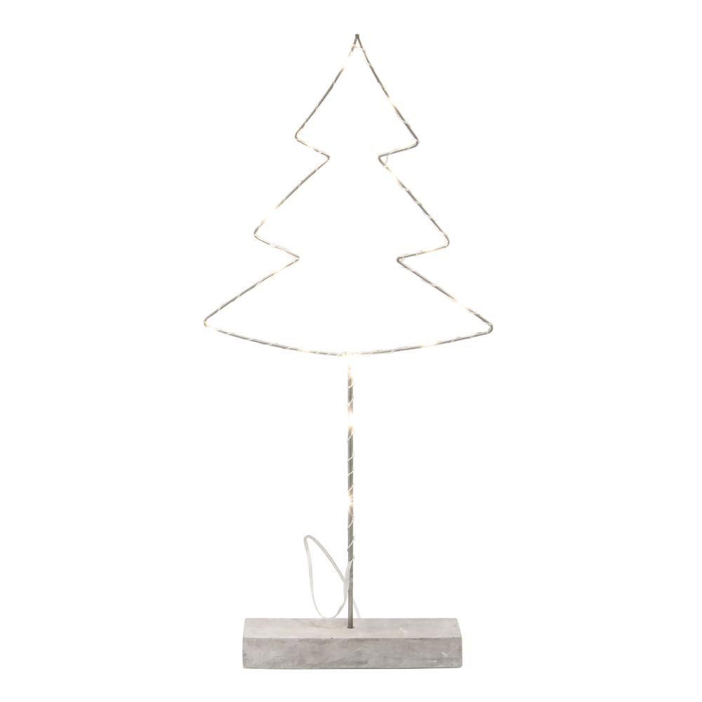 metal glee christmas tree stand with led lighting 15 14l x 3 14w x 34h - Metal Christmas Decoration Stand