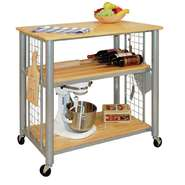 CART, METRO UTILITY 3 SHELF, PEWTER