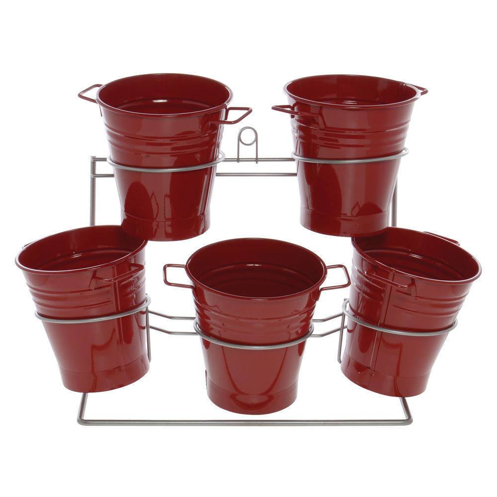 DISPLAY, METAL, W/5 RED TUBS, 24LX12WX17H