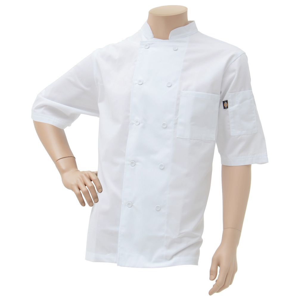 CHEF COAT, COOL BREEZE, WHITE, X-LARGE