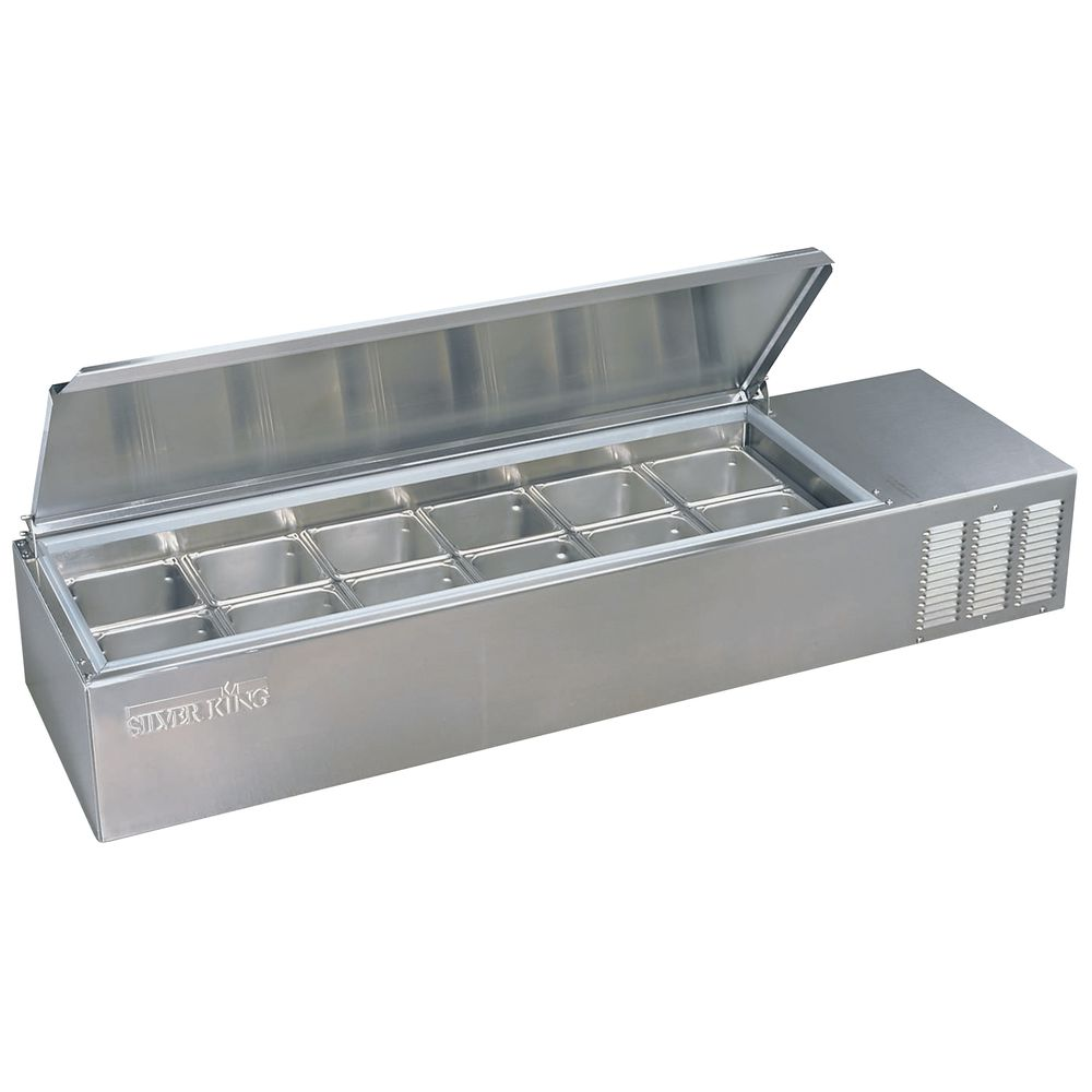 Silver King 8 Pan Refrigerated Countertop Food Prep