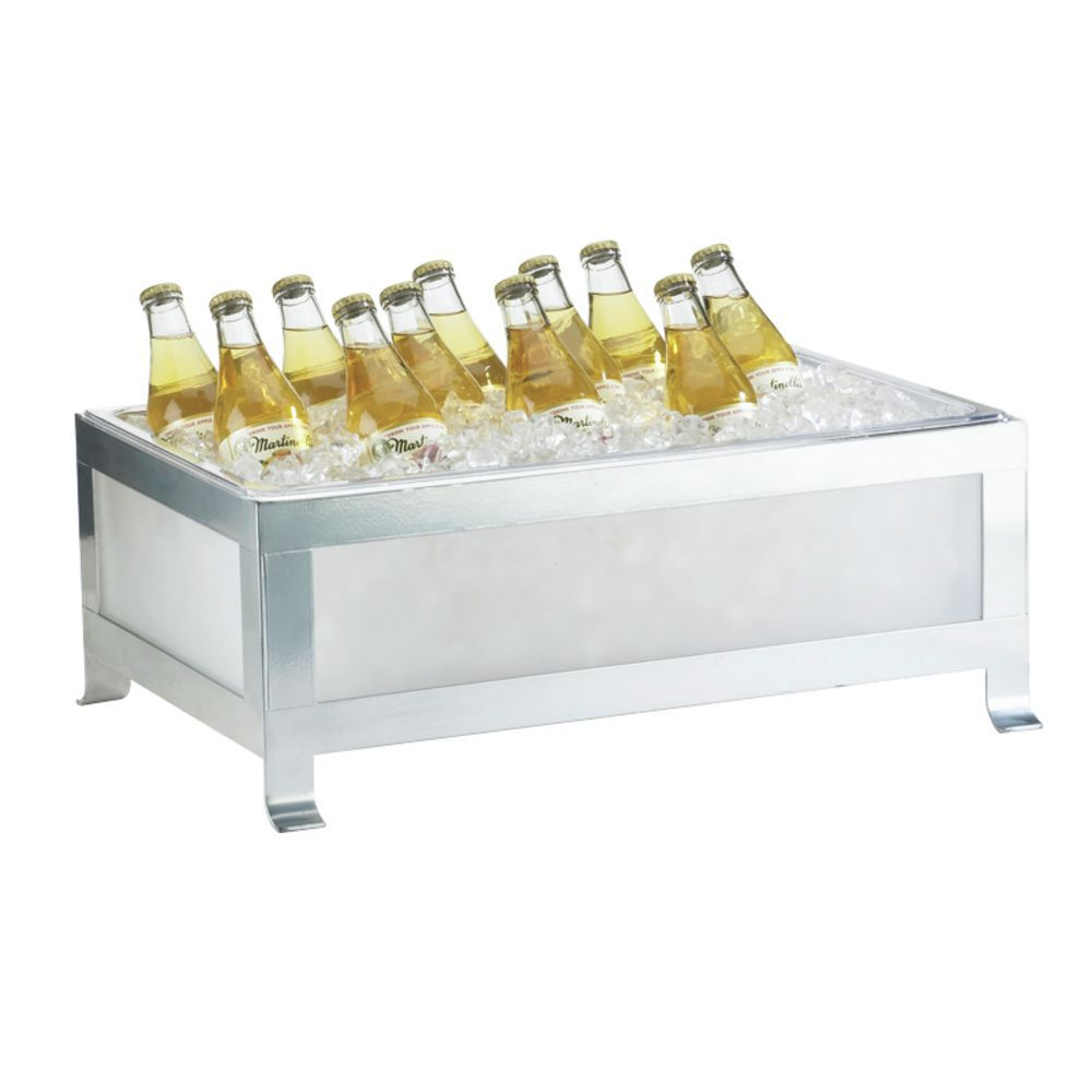 Cal-Mil Soho Ice Bins Silver with Frosted Glass Full-Size