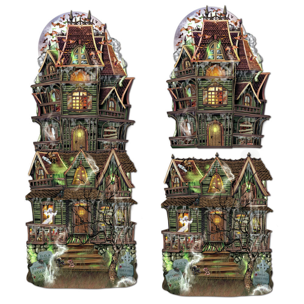 Beistle Halloween Decorations Jumbo Haunted House Cutouts 12 PK