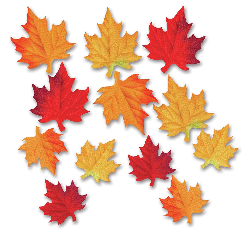 Beistle Fall Thanksgiving Cutouts Autumn Leaves 24 Pk