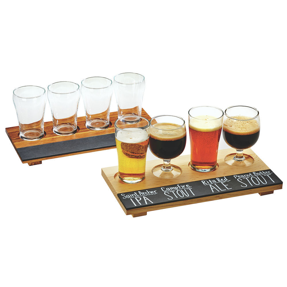 Cal Mil Beer Taster Board Crushdbamboo