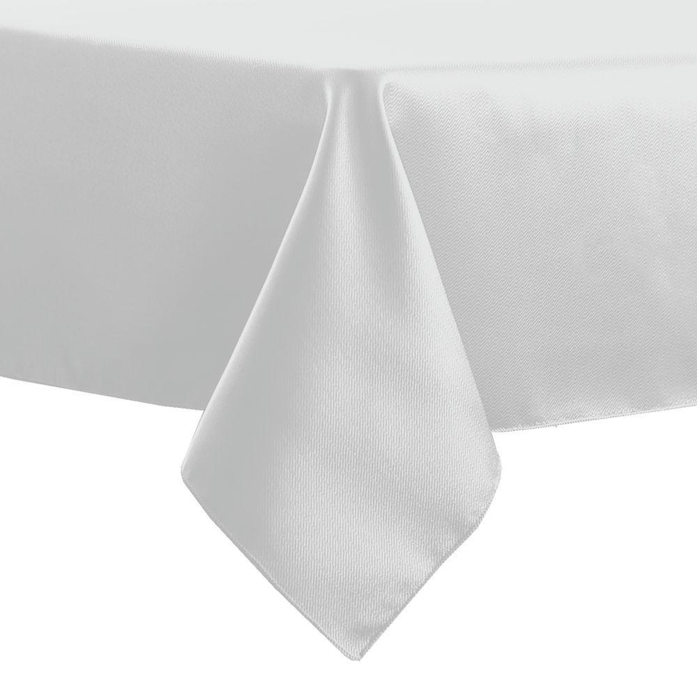 Great Visual Textile Herringbone   Fandango 54 X 54 Inch Square Tablecloth, White