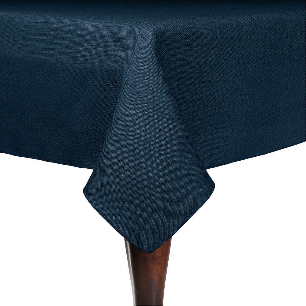 Visual Textile Faux Burlap   Havana 54 X 54 Inch Square Tablecloth, Navy  Blue