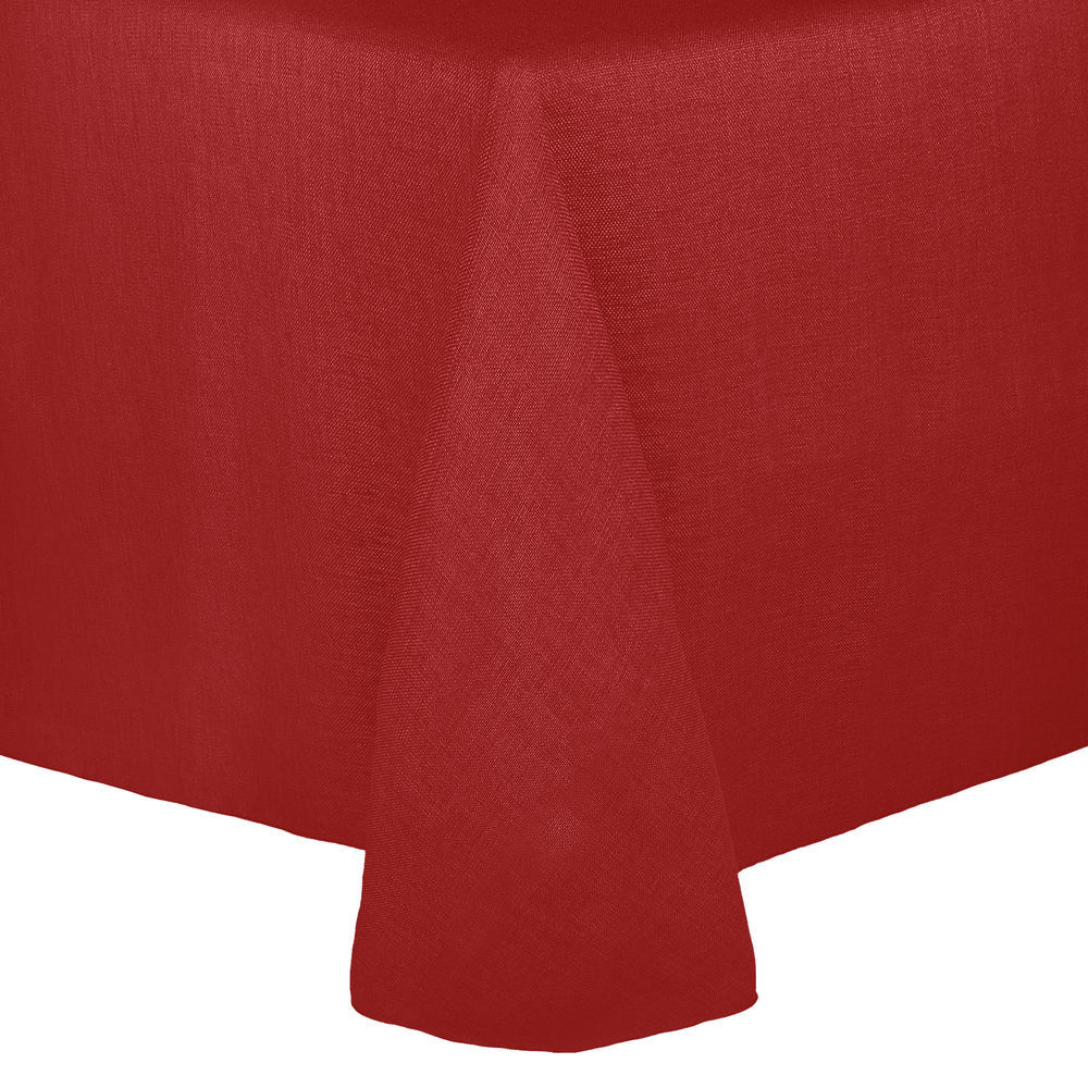 Visual Textile Faux Burlap Havana 60 X 84 Inch Oval Tablecloth