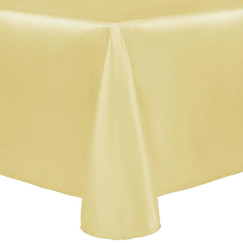 Visual Textile Majestic 60 X 84 Inch Oval Tablecloth Cornsilk