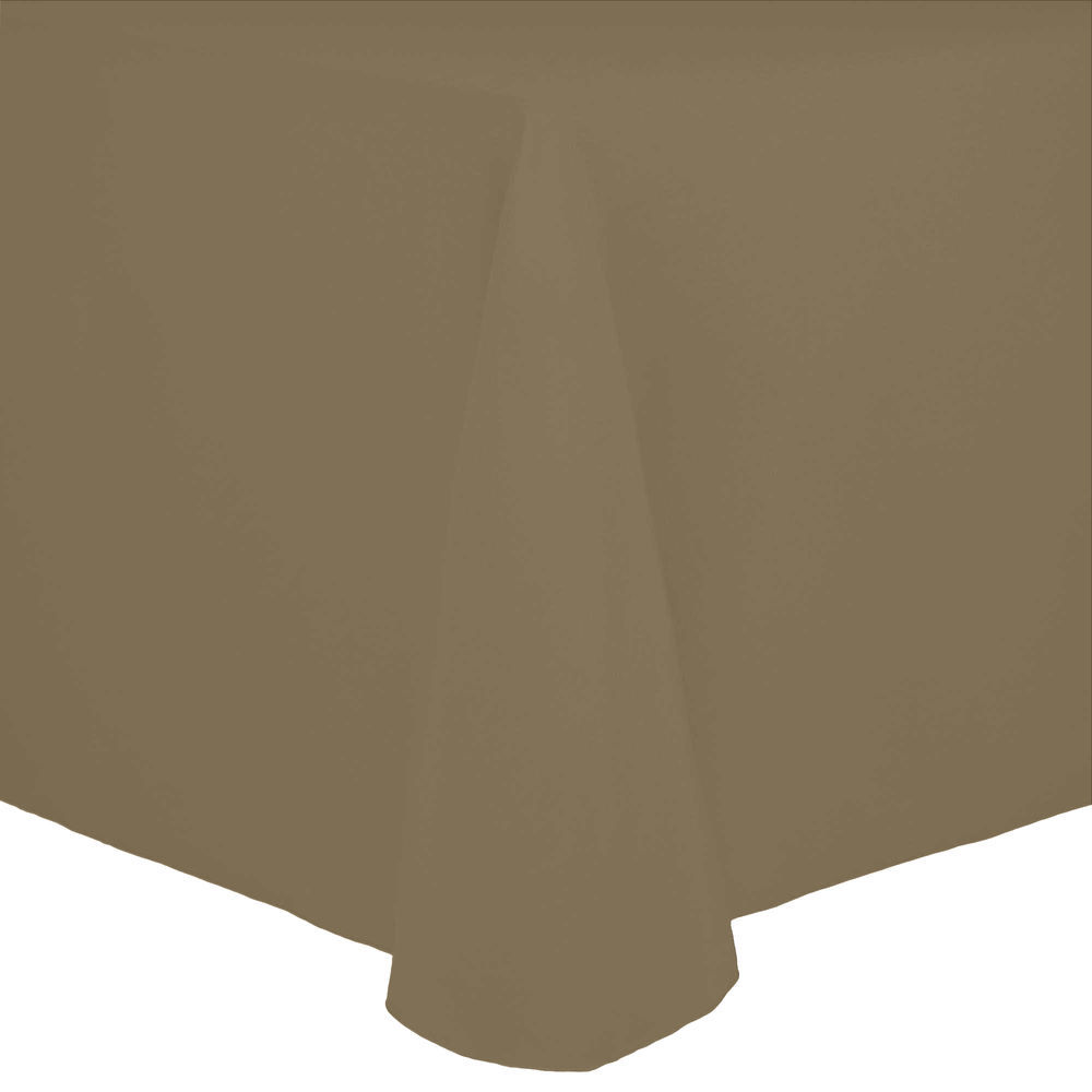 Visual Textile Cotton Feel 120 X 120 Inch Square Tablecloth Toast Light  Brown