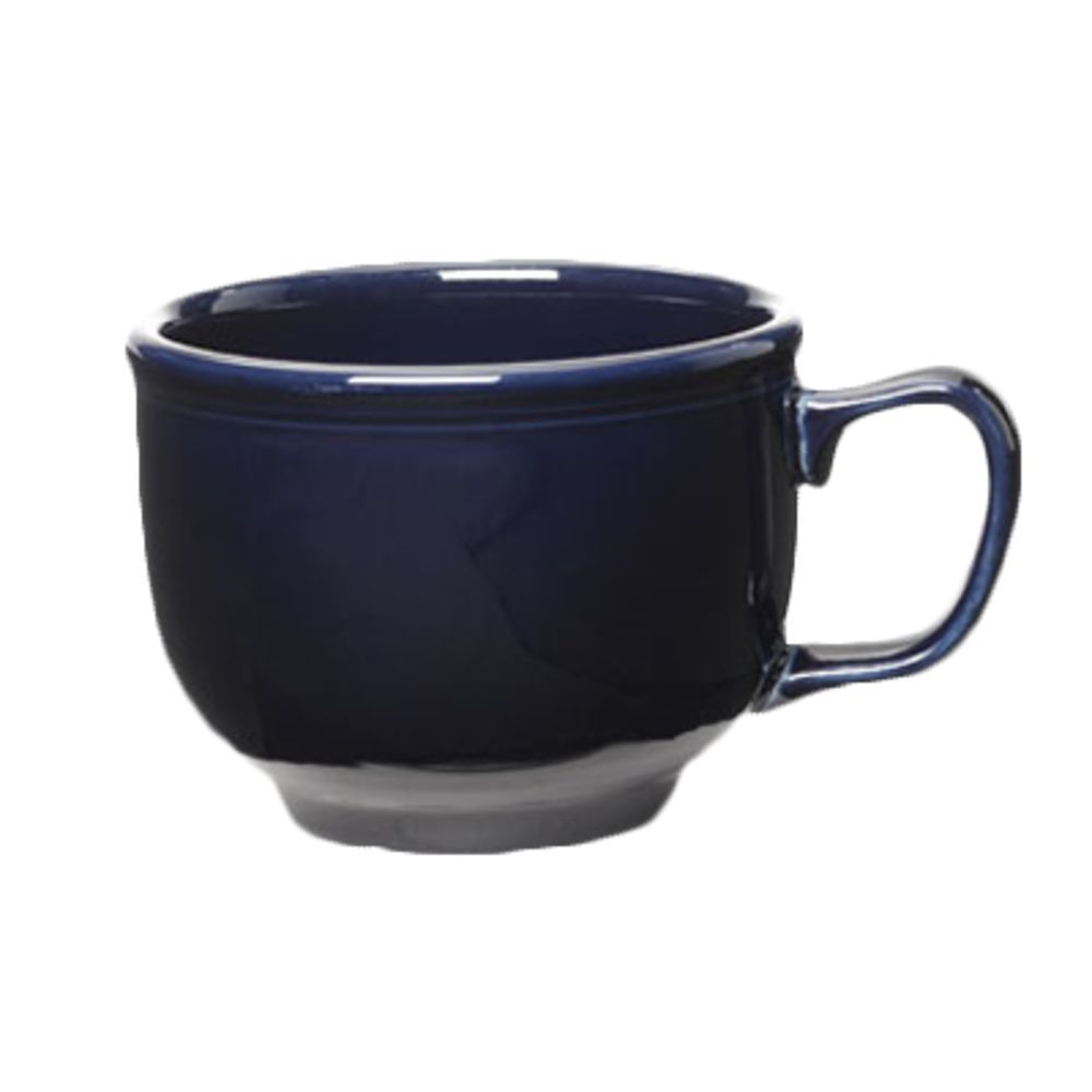 Homer Laughlin Jumbo Cup, 18 oz , dishwasher/oven/microwave safe, fully  vitrified, lead free, Colorations, Cobalt Blue (0105 0149) Made in USA