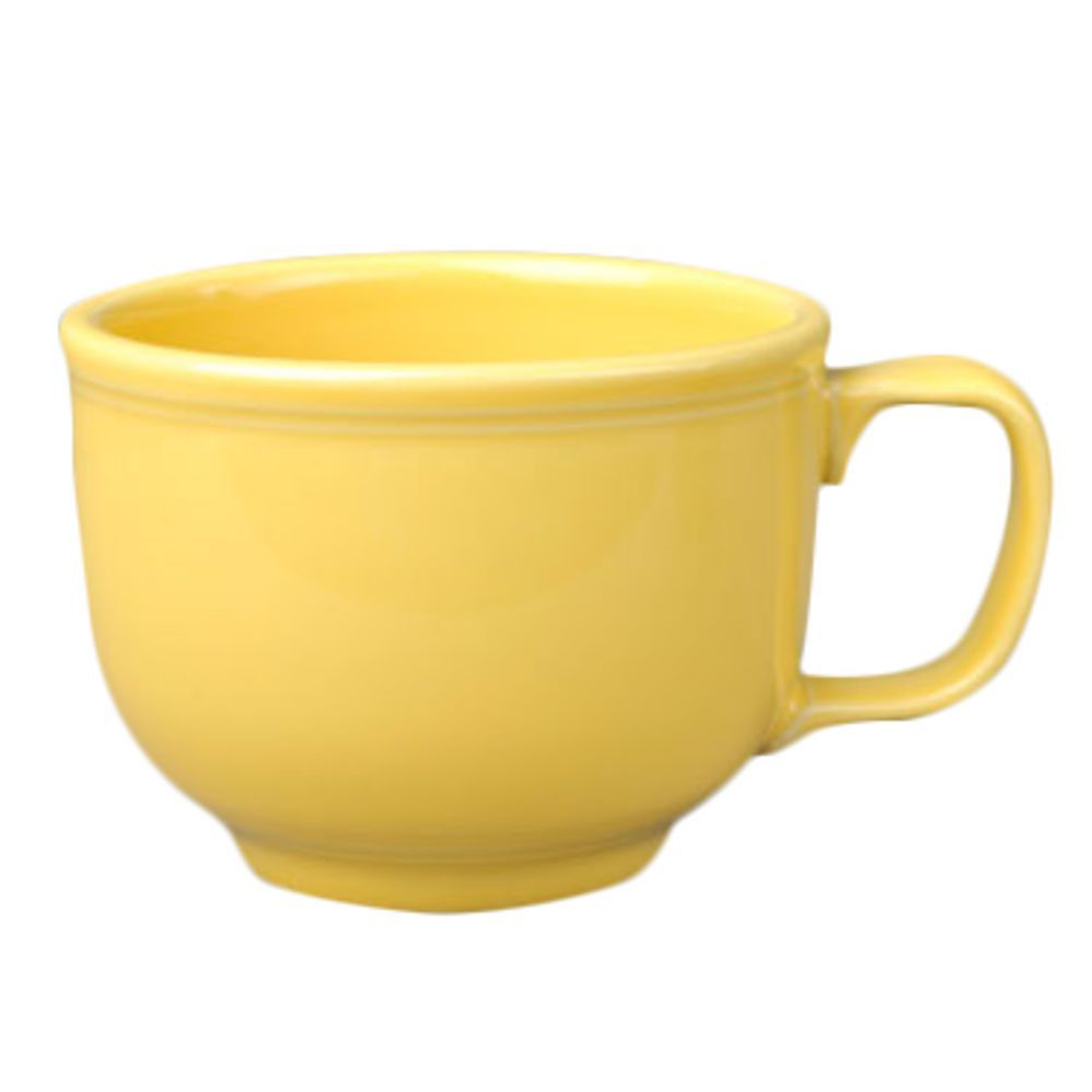 Homer Laughlin Jumbo Cup, 18 oz , dishwasher/oven/microwave safe, fully  vitrified, lead free, Colorations, Sunflower (0320 0149) Made in USA