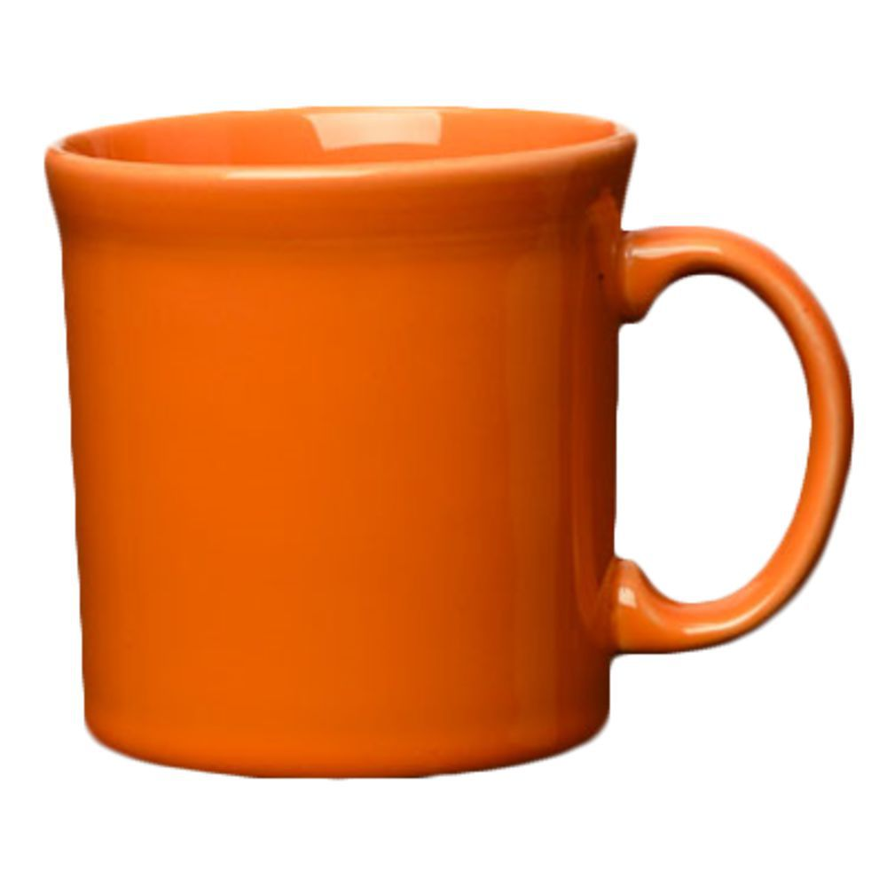 Homer Laughlin Java Mug, 12 oz , round, dishwasher/oven/microwave safe,  fully vitrified, lead free, Fiesta, Tangerine (0325 0570) (10 day lead  time)