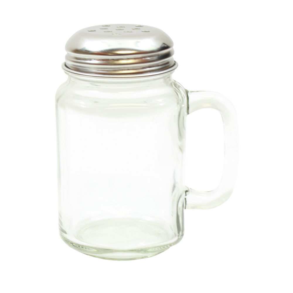 Tablecraft Mason Jar Shaker 8 Oz 1 12 Dia X 4h Dishwasher Safe