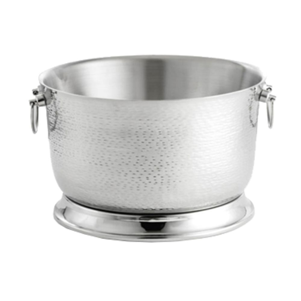 Tablecraft Round Double Wall Remington Stainless Steel Beverage Tub Base 20 5 X 11