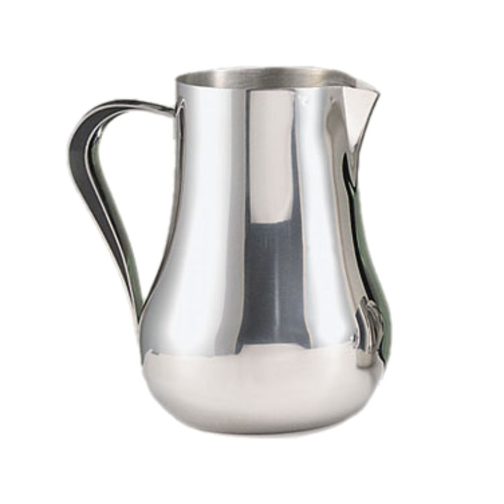 World Tableware Water Pitcher 70 Oz 188 Stainless Steel With Ice