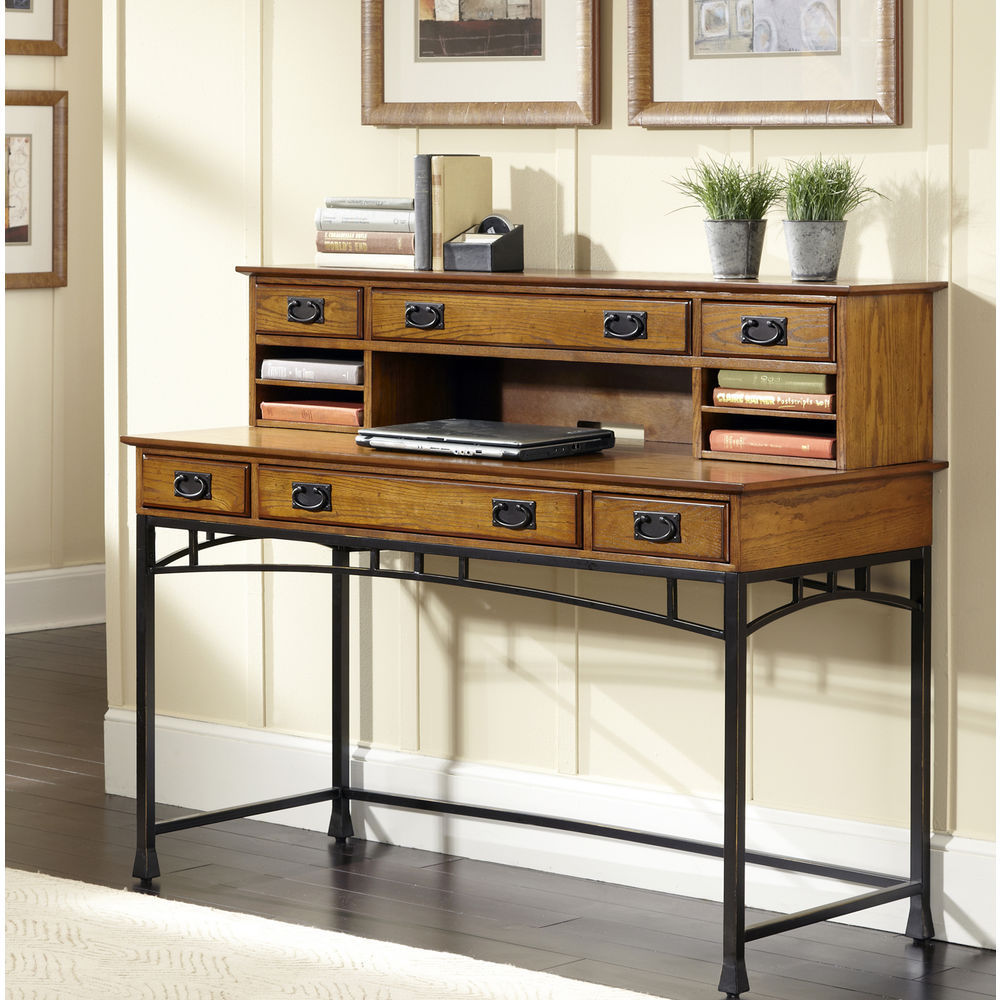 Homestyles Modern Craftsman Executive Desk And Hutch