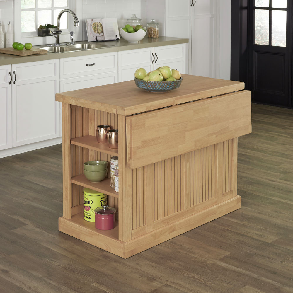 Homestyles Nantucket Natural Butcher Block Top Kitchen Island