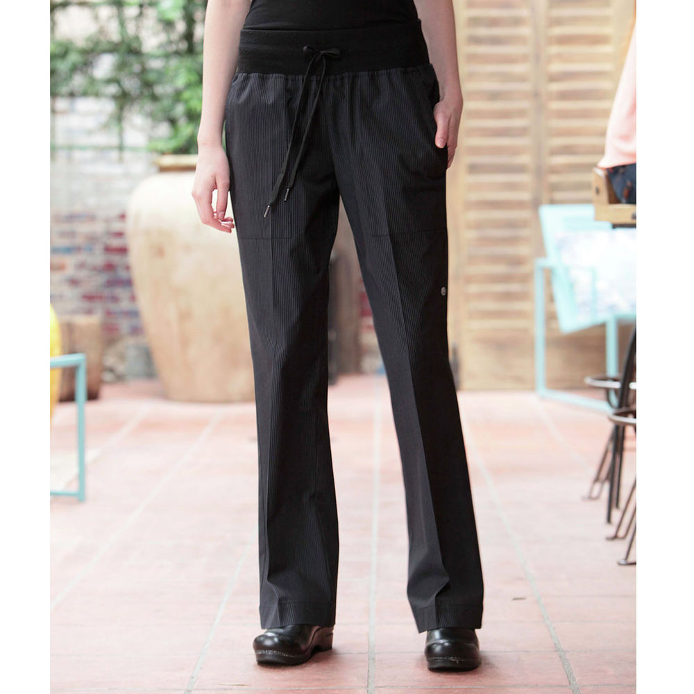 5f859b82ba3 Chef Works Womens Black Comfi Chef Pants - M