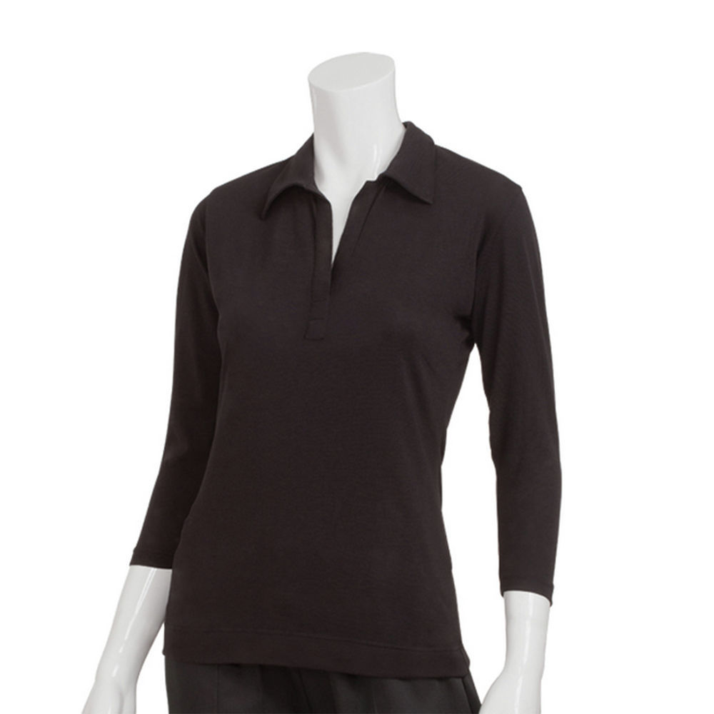 75a64022 Chef Works Womens Definity Black Shirt - M