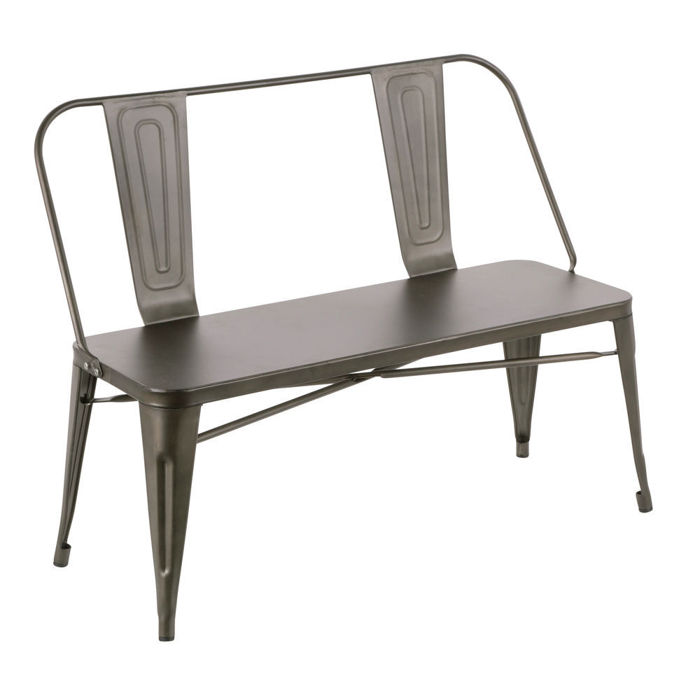 Fantastic Lumisource Oregon Industrial Metal Dining Entryway Bench With Antique Finish By Lumisource Onthecornerstone Fun Painted Chair Ideas Images Onthecornerstoneorg