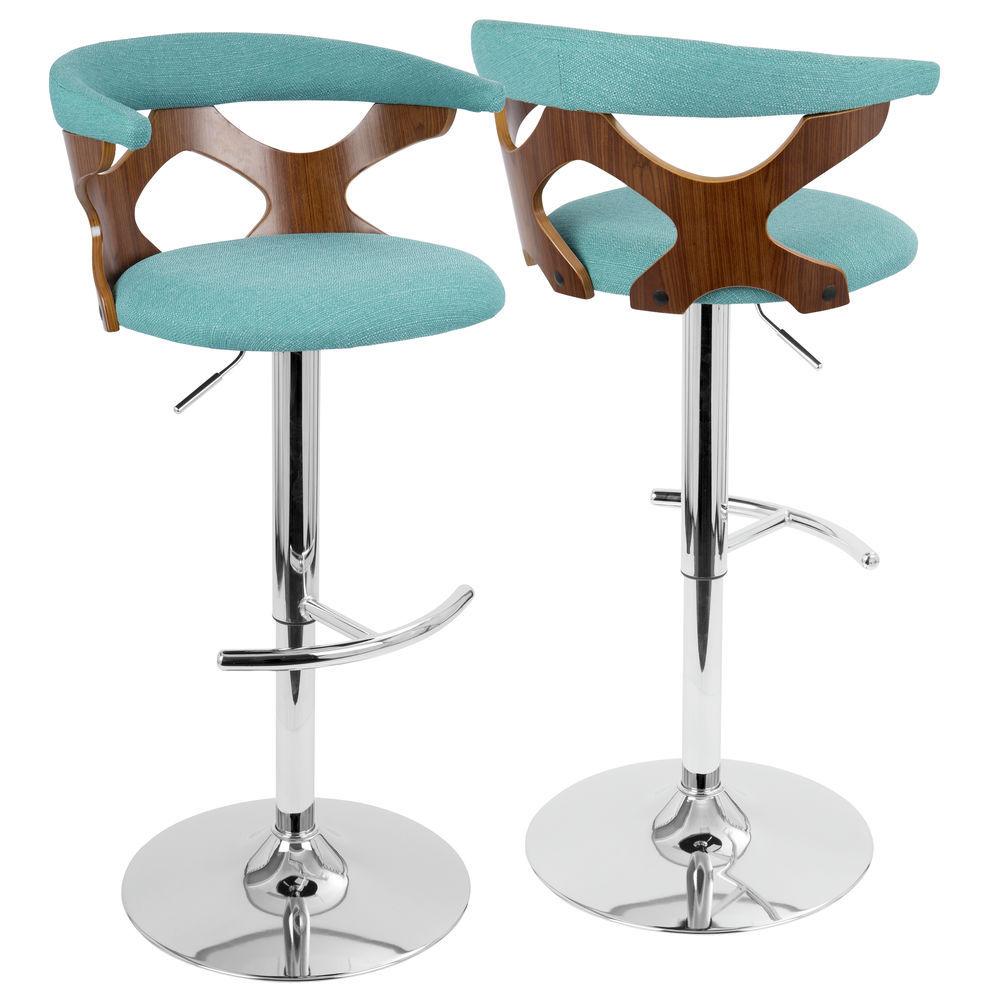 854af6d63bdd LumiSource Gardenia Mid-Century Modern Adjustable Barstool with ...