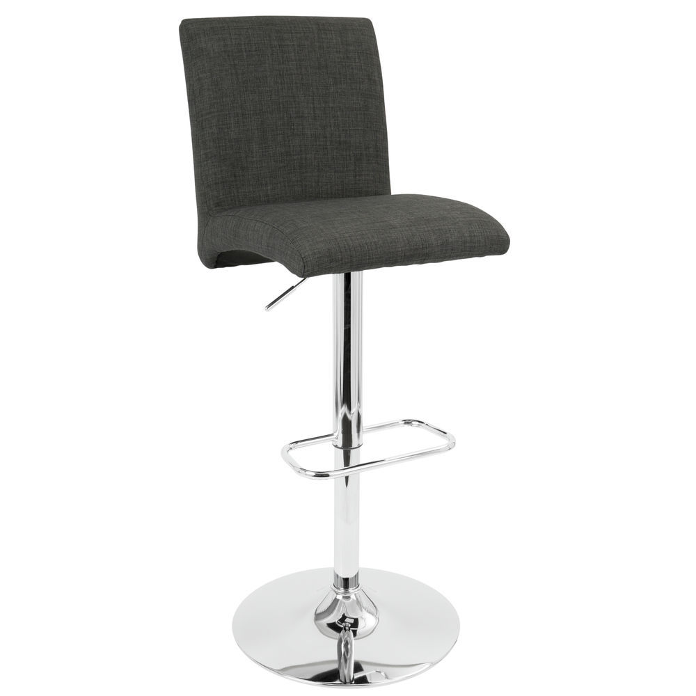 Swell Lumisource Tintori Contemporary Adjustable Barstool With Swivel In Charcoal By Lumisource Ibusinesslaw Wood Chair Design Ideas Ibusinesslaworg