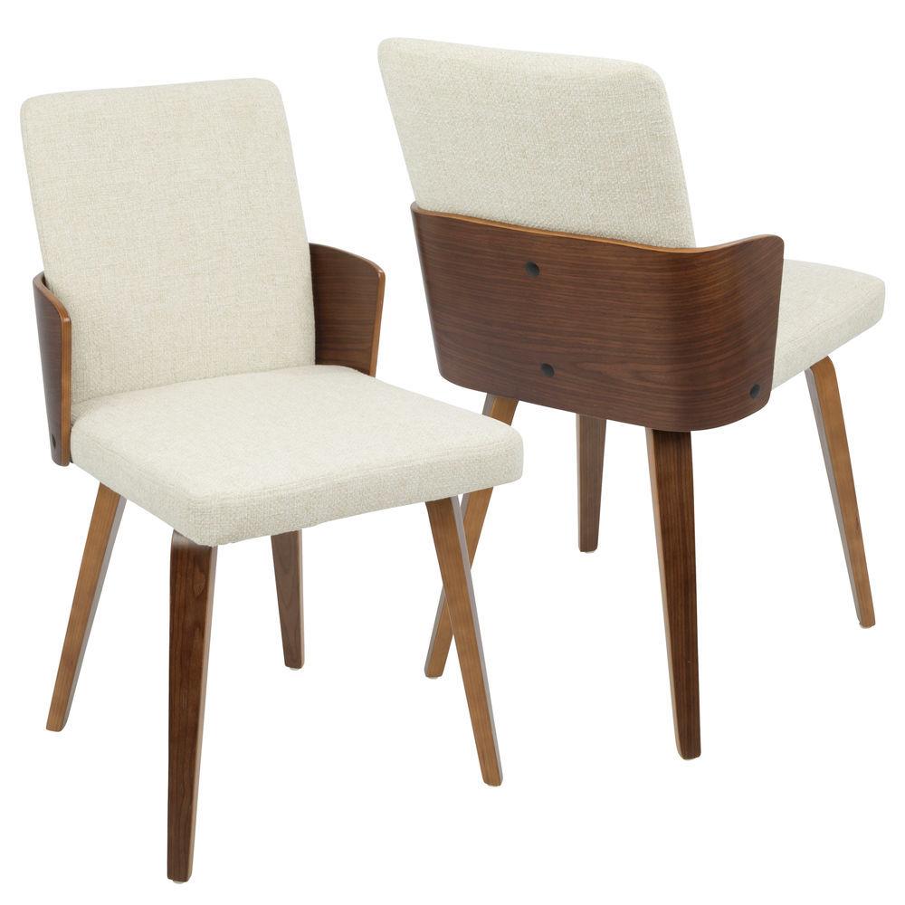 Lumisource Santiago Mid Century Modern Dining Accent Chair